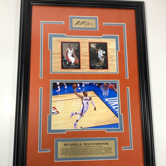 """custom Other - Russell Westbrook Engraved Auto Photo 19""""x13.5"""""""